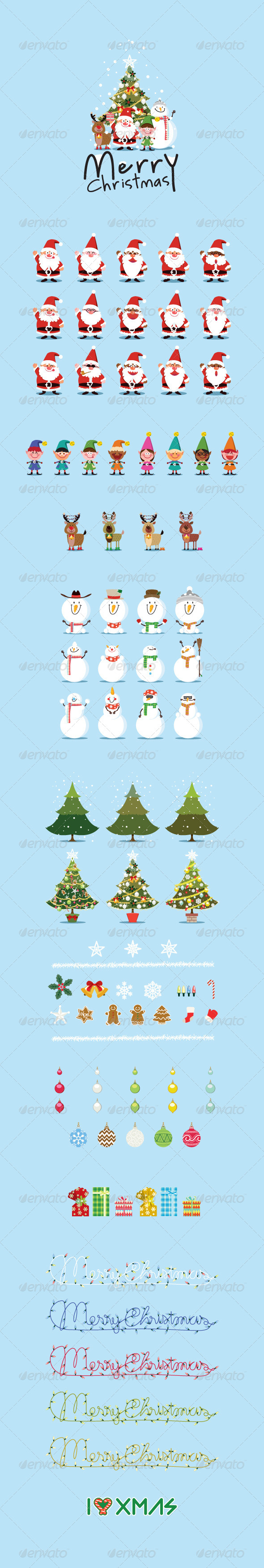 GraphicRiver Happy Santas and Christmas Collections 5940644