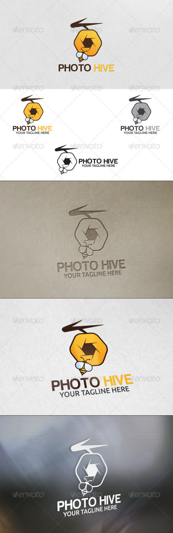 GraphicRiver Photo Hive Logo Template 5948295