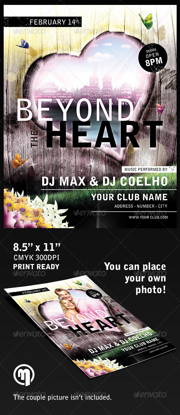 GraphicRiver Beyond the Heart Flyer Template 5898477