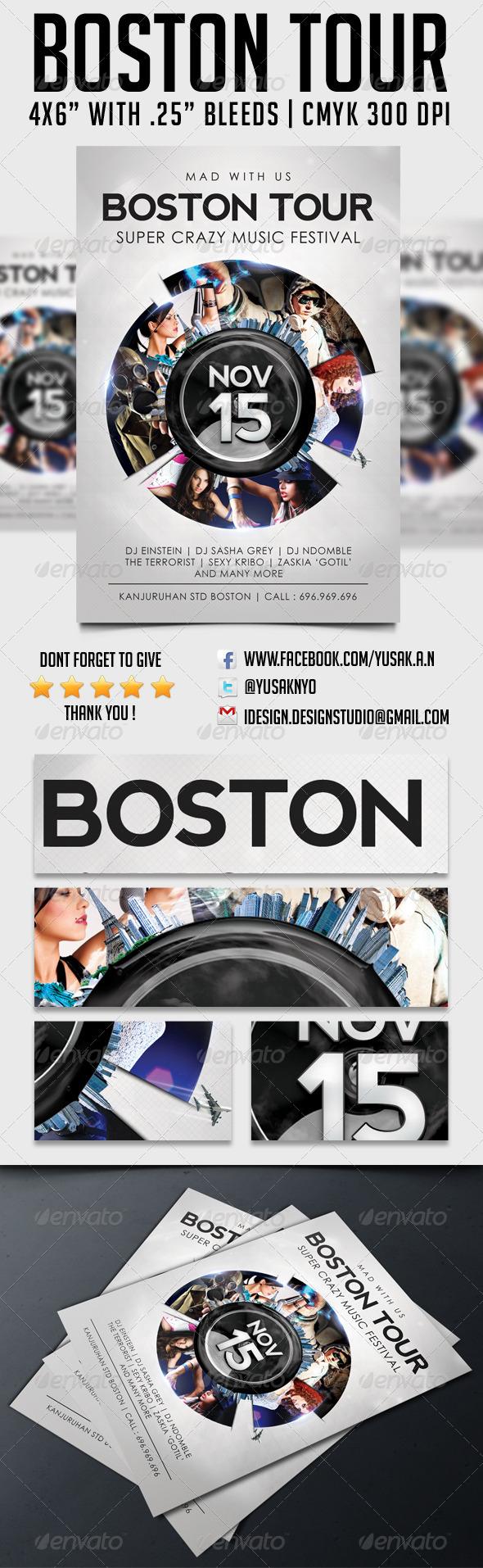 GraphicRiver Boston Tour Template 5726076