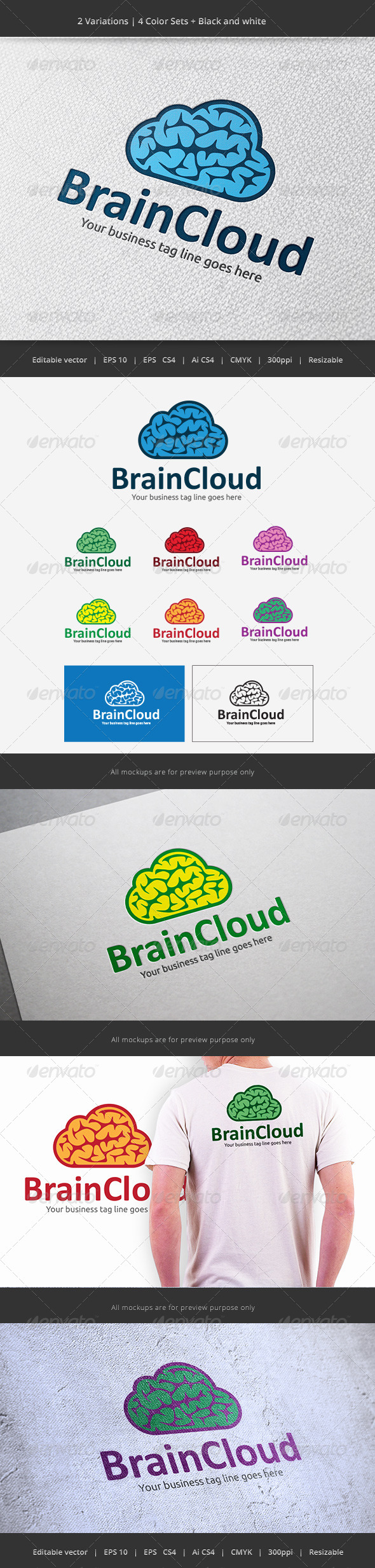GraphicRiver Brain Cloud 5948409