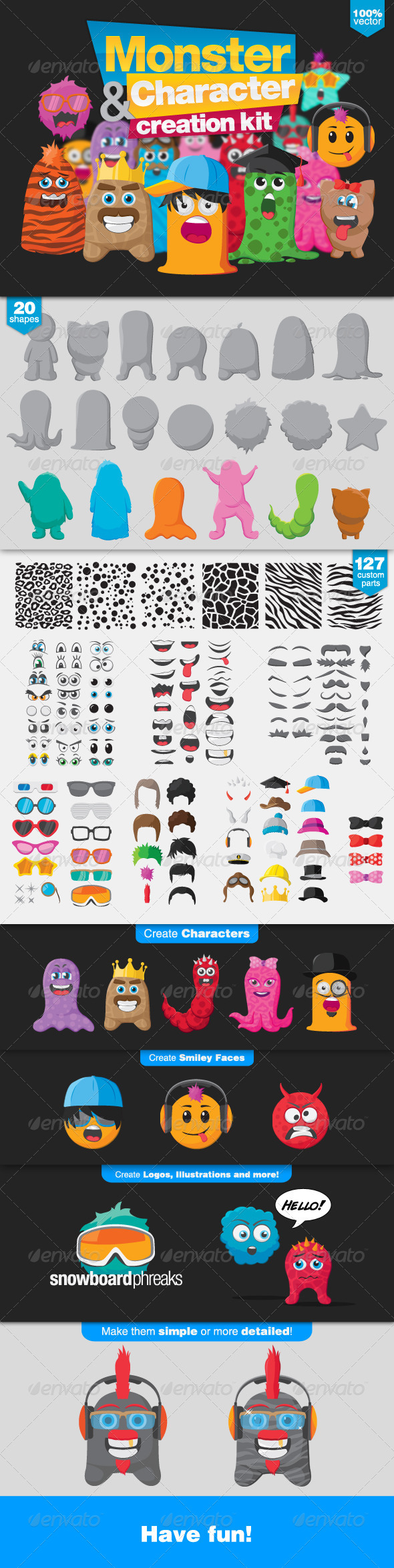 GraphicRiver Monster and Character Creation Kit 5947954