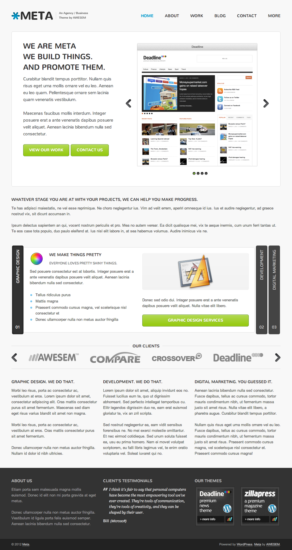 Meta Agency / Business / Corporate WordPress Theme