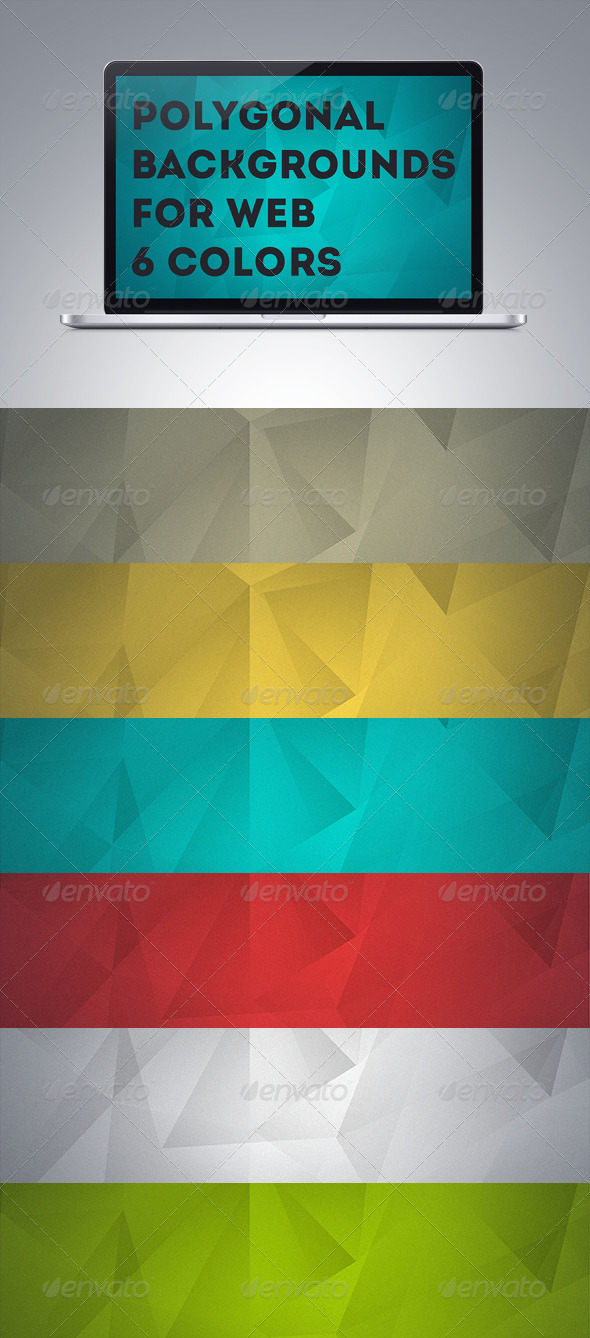 GraphicRiver Polygonal Backgrounds 5948783
