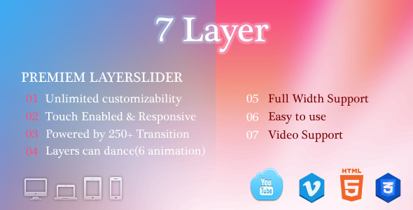 CodeCanyon 7 Layer Responsive LayerSlider 5948911