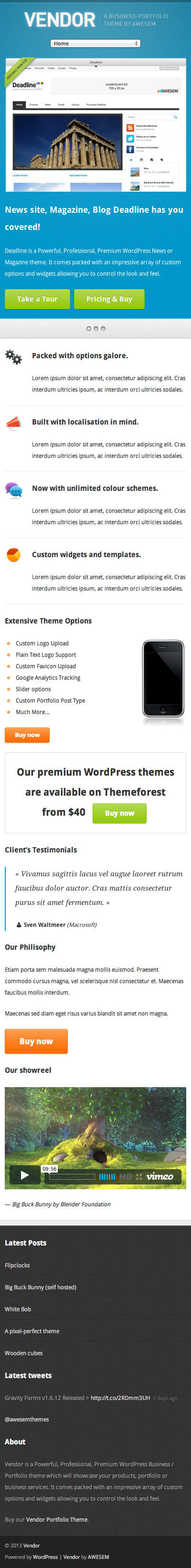 Vendor – Premium WordPress Portfolio Theme
