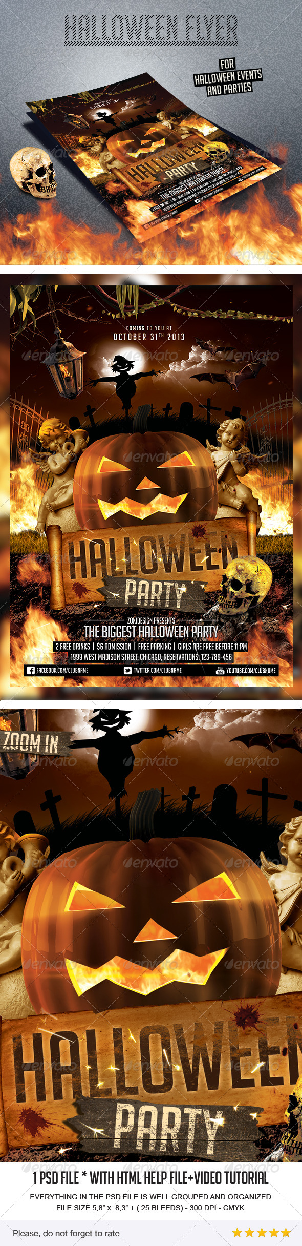 GraphicRiver Halloween Party Flyer 5909198