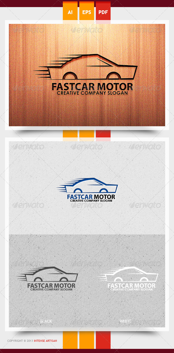 GraphicRiver Fast Car Motor Logo Template 5949161