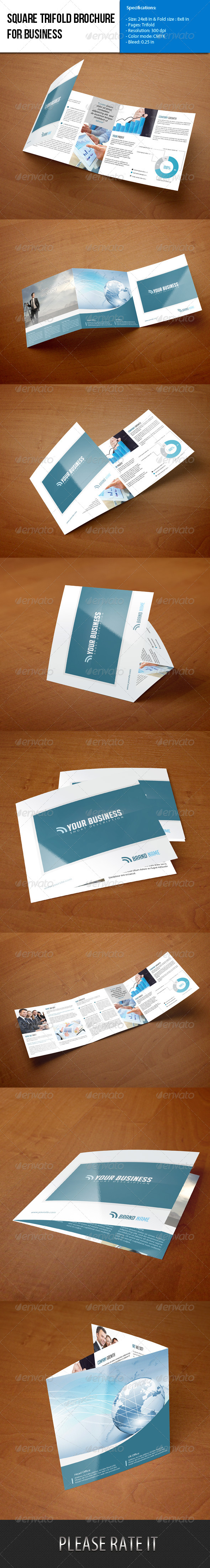 GraphicRiver Square Trifold Brochure-Business 5949164