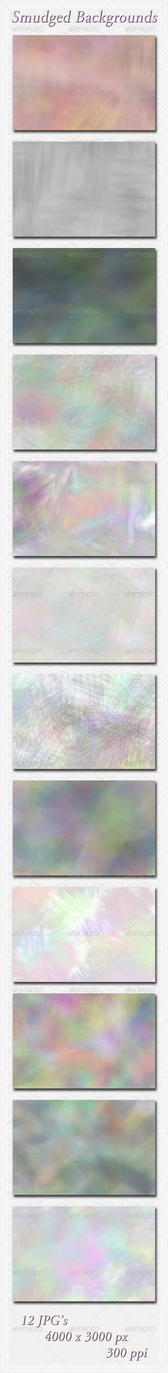GraphicRiver Smudged Backgrounds 5949819
