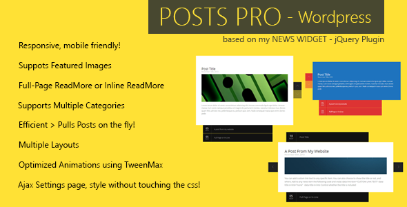 CodeCanyon Posts Pro Wordpress Plugin 5950332