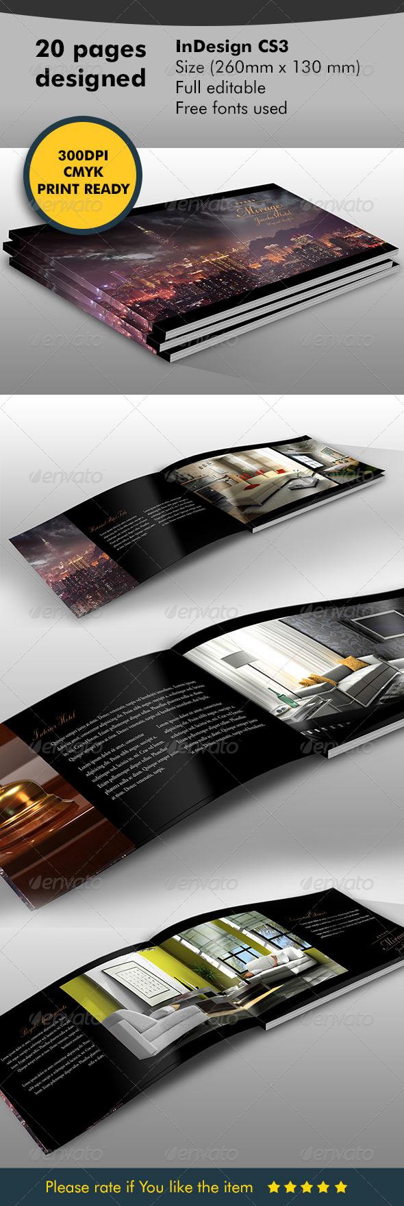 GraphicRiver Brochure Catalog Hotel 5950487