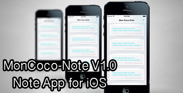 CodeCanyon Moncoco-Note v1.0 Note App for iOS 5950605