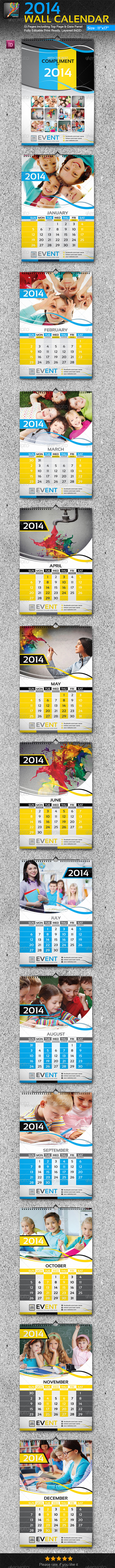 GraphicRiver 2014 Wall Calendar 13 Pages 5950825