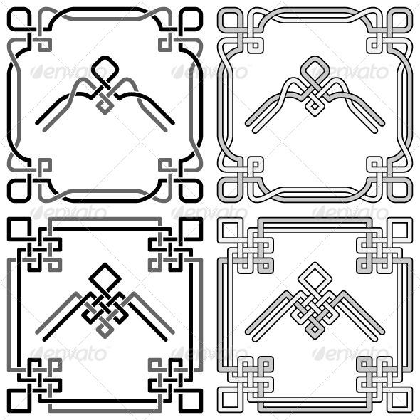 GraphicRiver Celtic Knots Corners Set 2 5951219
