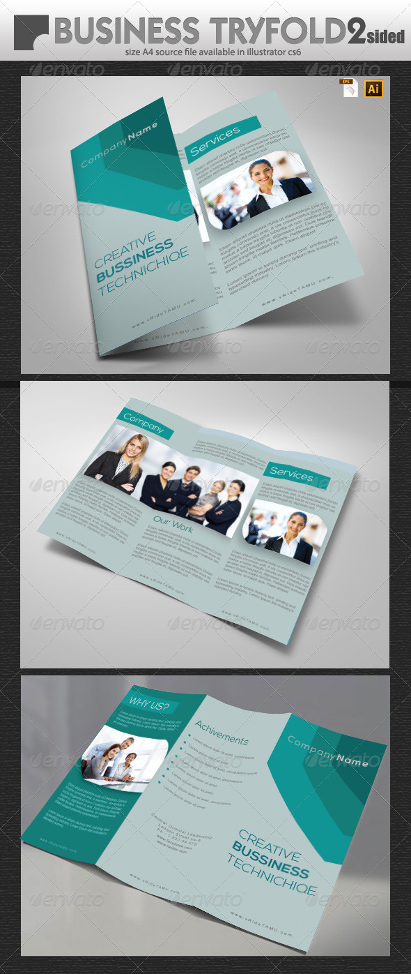 GraphicRiver Business Tri-Fold Design 5951325