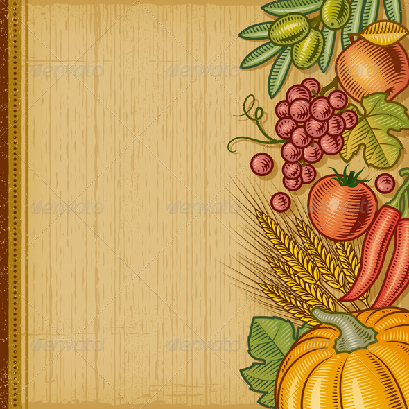 GraphicRiver Retro Harvest Background 5951582