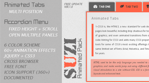 CodeCanyon Suzi jQuery Animated Tabs And Accordion Menu 5951783