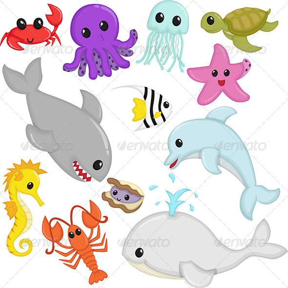GraphicRiver Marine Wildlife Animals 5943935
