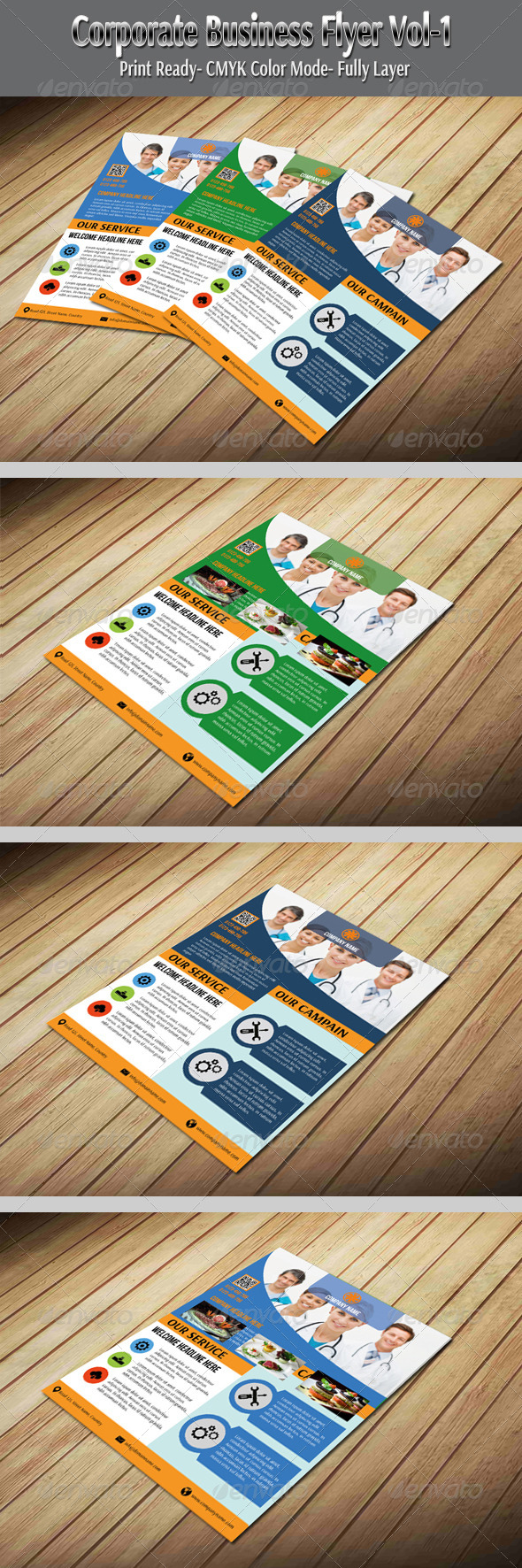 GraphicRiver Corporate Business Flyer Vol-1 5951962