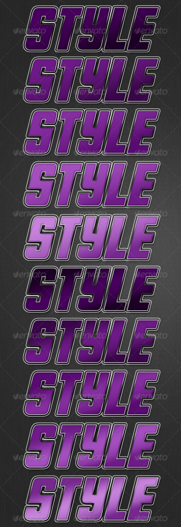 Outline Style - Text Effects Styles
