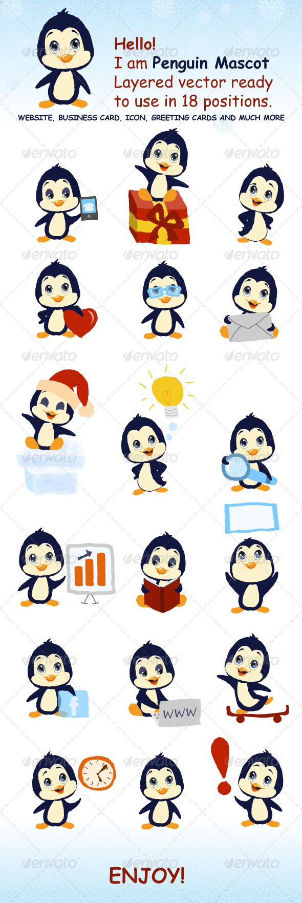 GraphicRiver Penguin Mascot 5952107