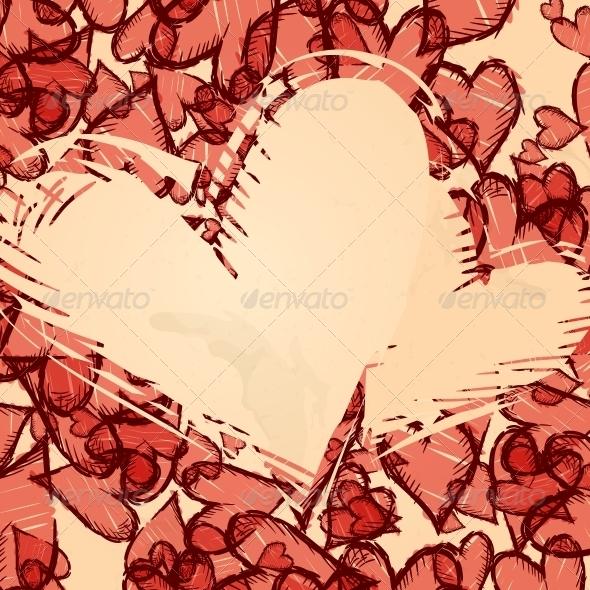 GraphicRiver Grunge Heart Background 5952202