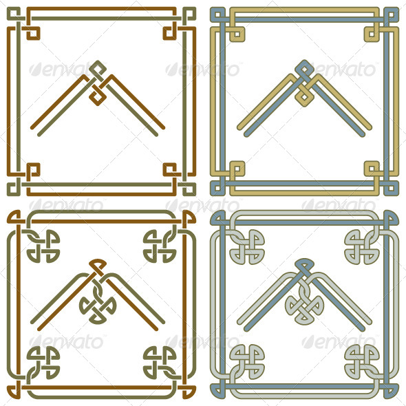 GraphicRiver Celtic Knot Corner Patterns 3 5952285