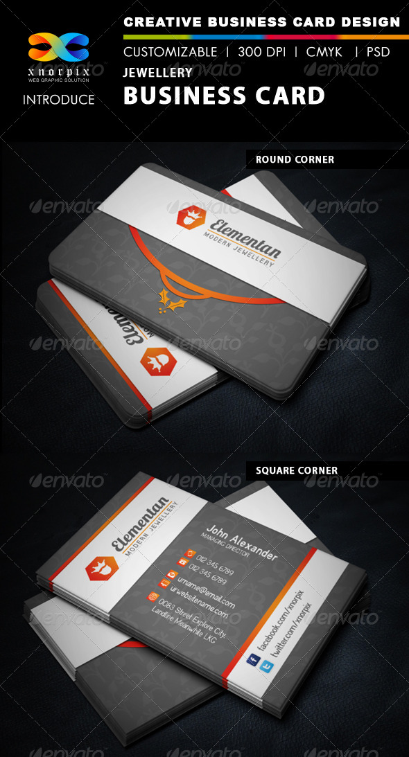 GraphicRiver Jewellery Business Card 5953574