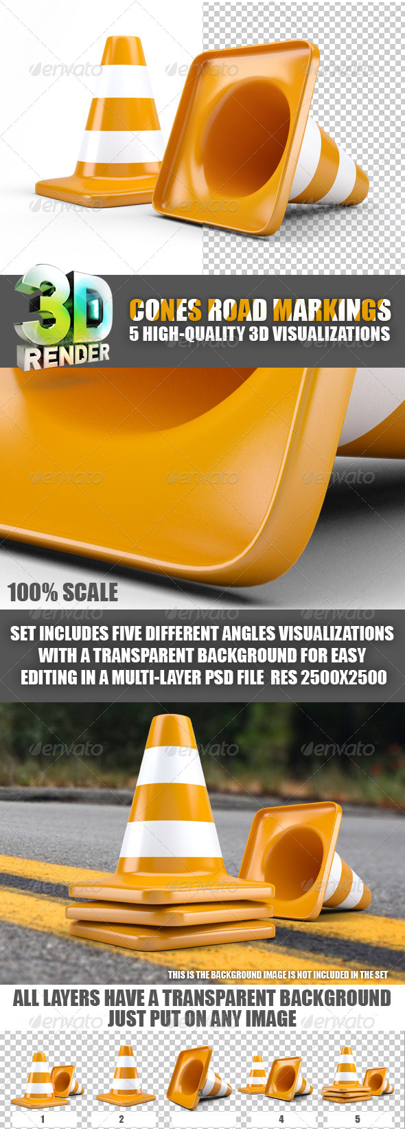 GraphicRiver Cones Road Markings 5953809