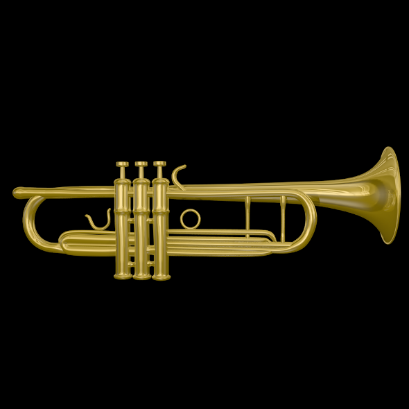 Trumpet 3D Model - 3DOcean Item for Sale