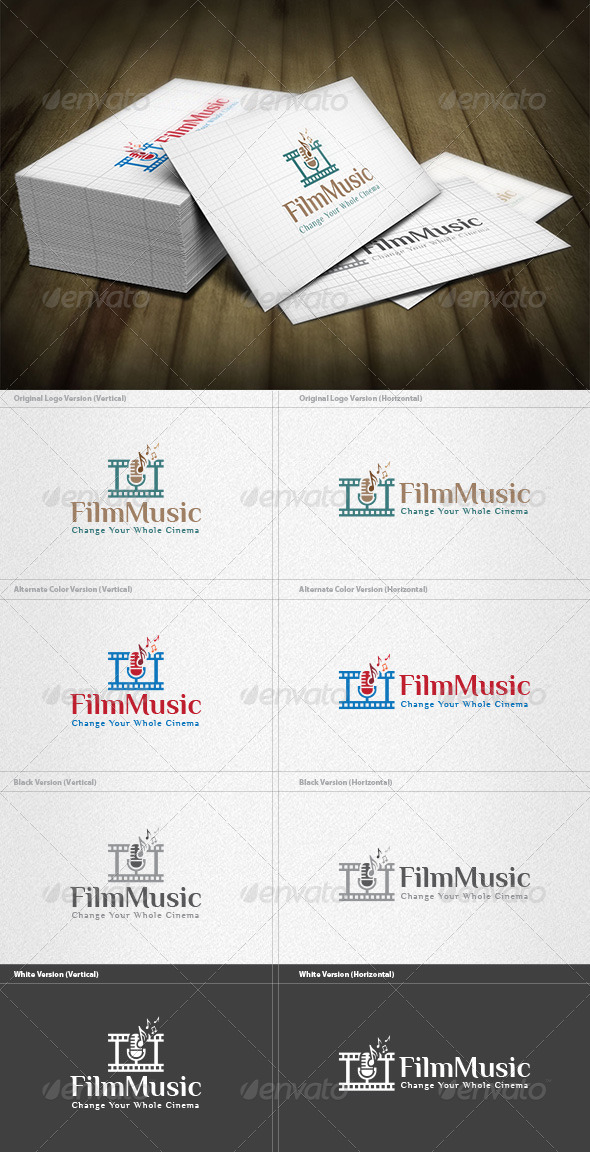 GraphicRiver Film Music Logo 5954059
