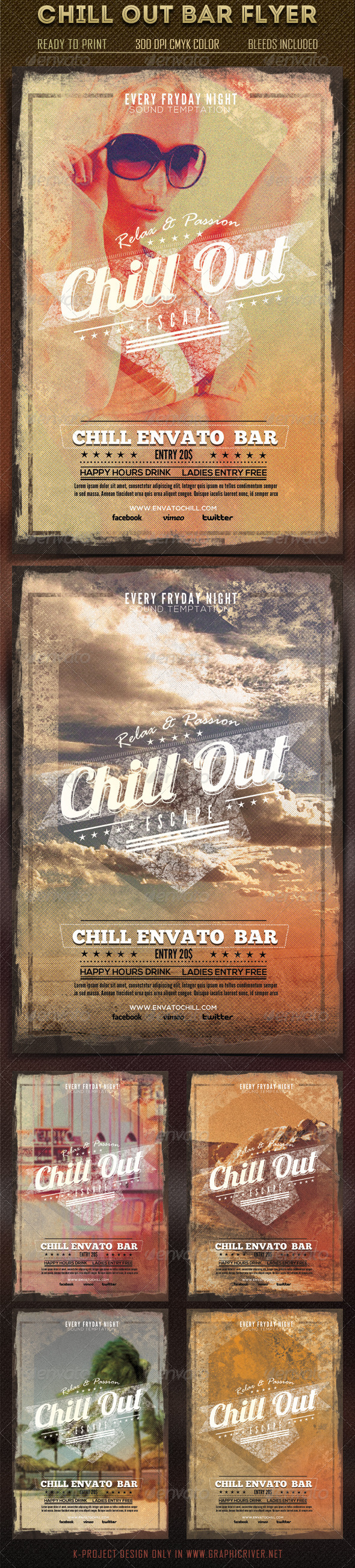 Chill Out Bar Flyer