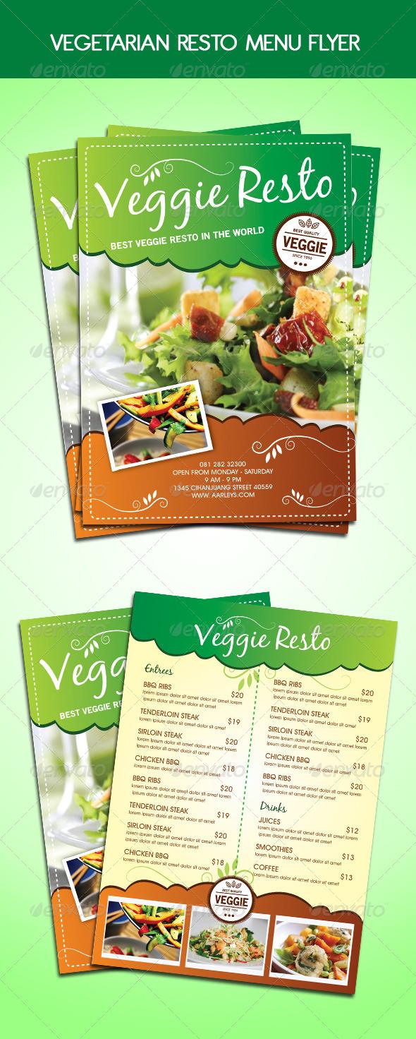 GraphicRiver Vegetarian Resto Menu Flyer 5922615