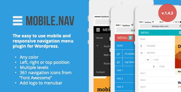 MOBILE.NAV - Responsive menu plugin