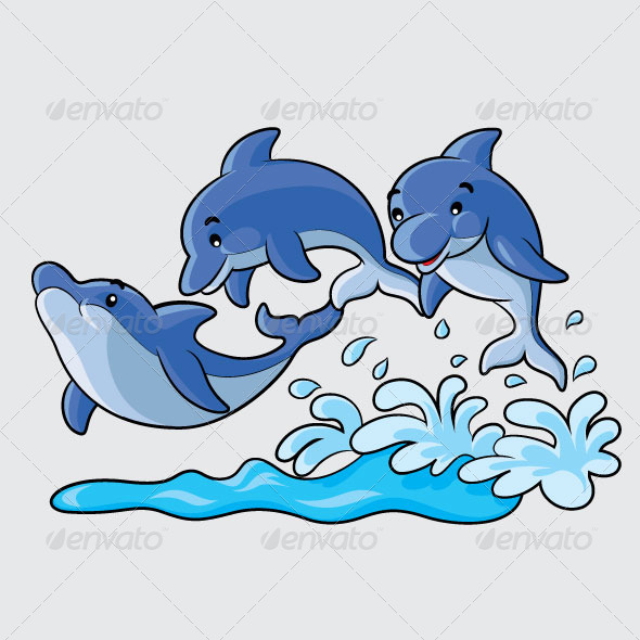 Dolphins Cartoon