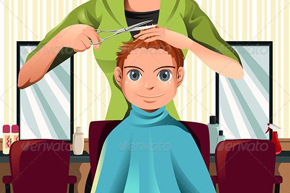 GraphicRiver Boy getting a Haircut 5954337