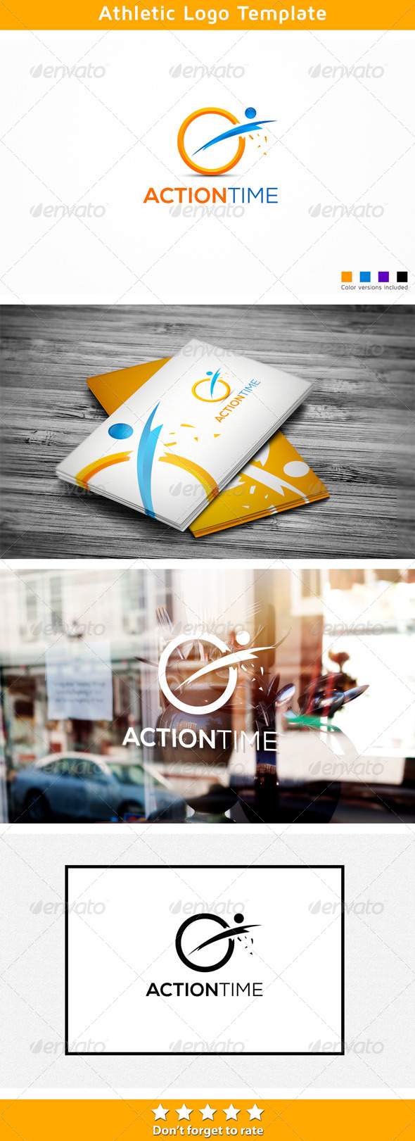 Athletic Action - Humans Logo Templates