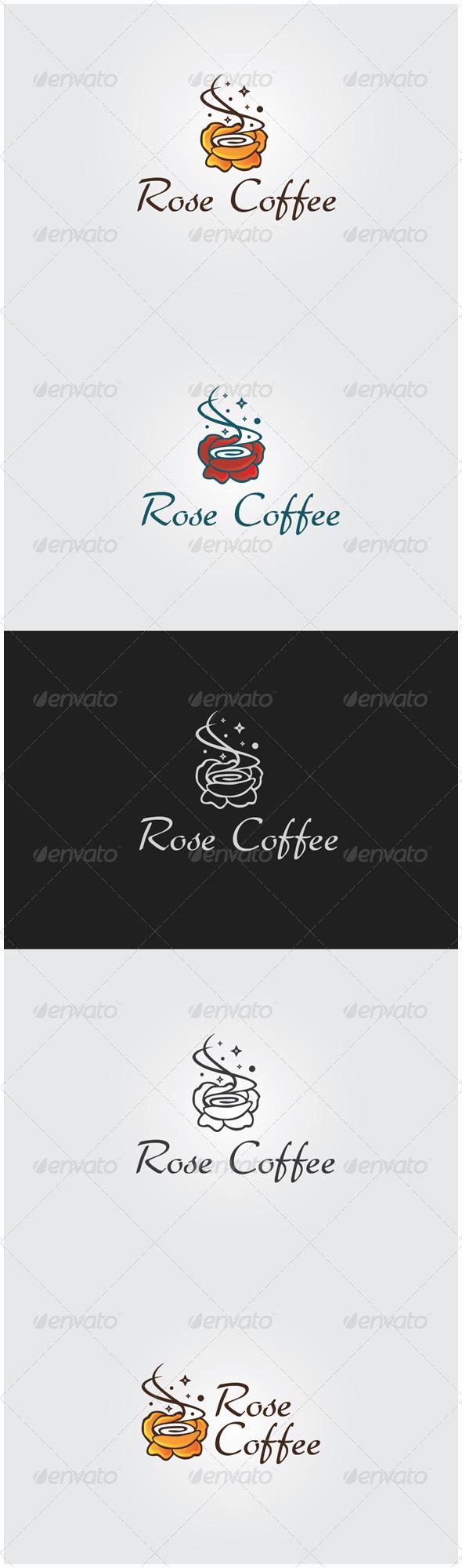 GraphicRiver Rose Coffee Logo 5954555