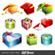 Vector Set: Colorful Giftboxes - GraphicRiver Item for Sale