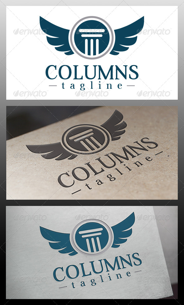 GraphicRiver Law Firm Crest Logo Template 5954949