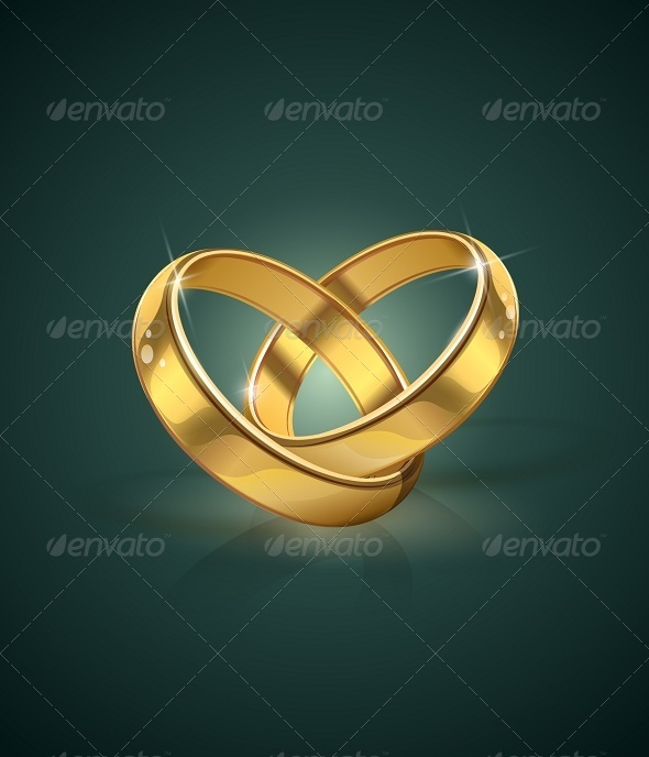 GraphicRiver Golden Wedding Rings 5954950
