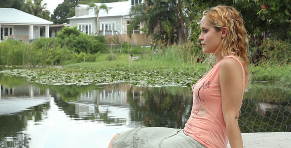 [VideoHive 621638] Woman Sitting By Lake 1 | Stock Footage