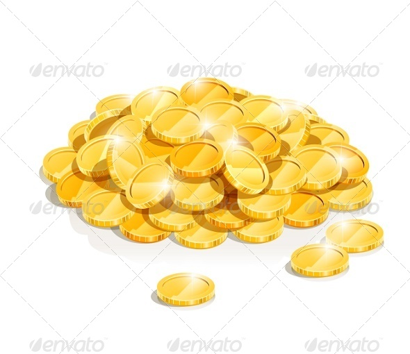 GraphicRiver Golden Coin Heap 5954956