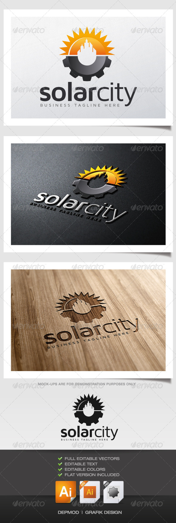 GraphicRiver Solar City Logo 5955480