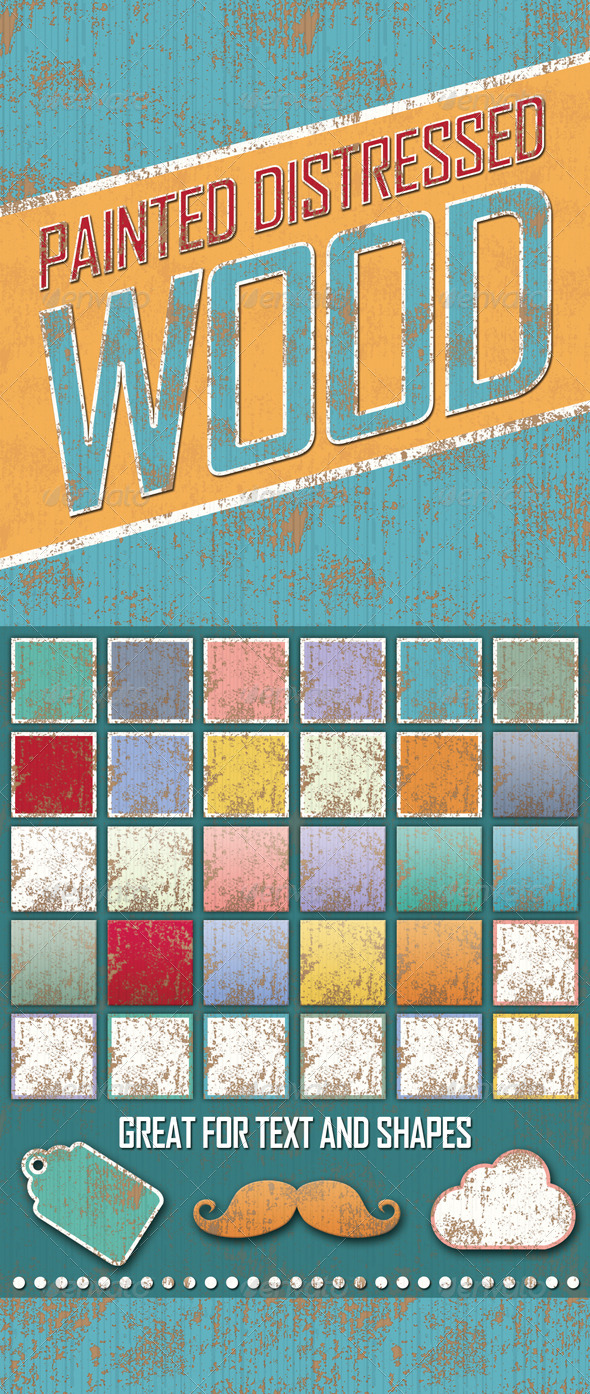 GraphicRiver Distressed Painted Wooden Styles 5955692
