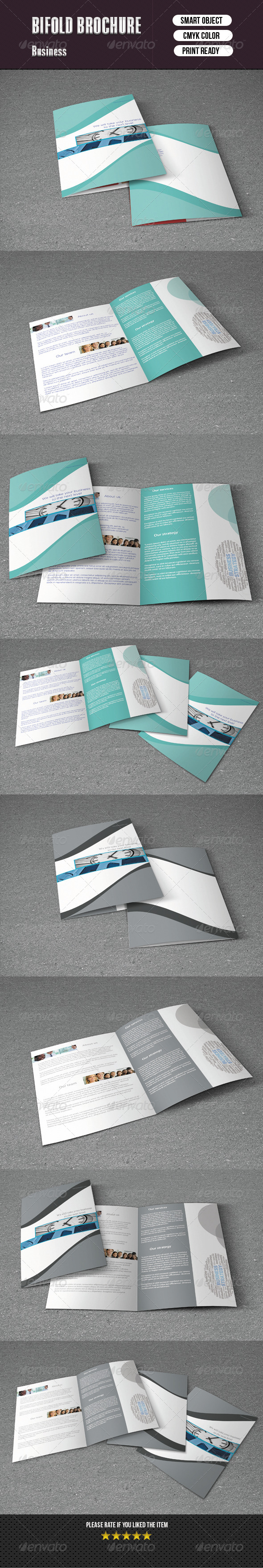 GraphicRiver Bifold Brochure For Business 2 Color Version 5955900
