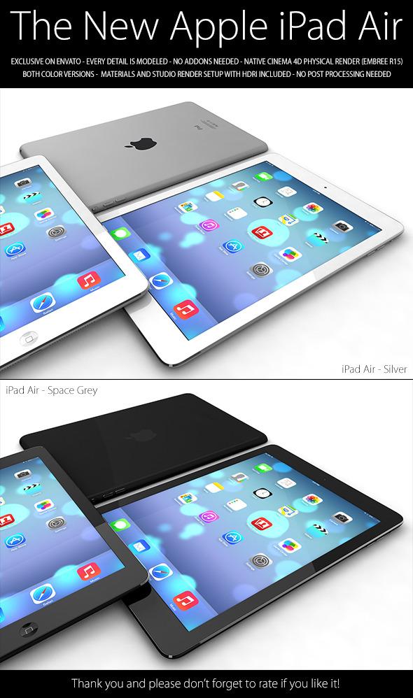3DOcean iPad Air 5956076