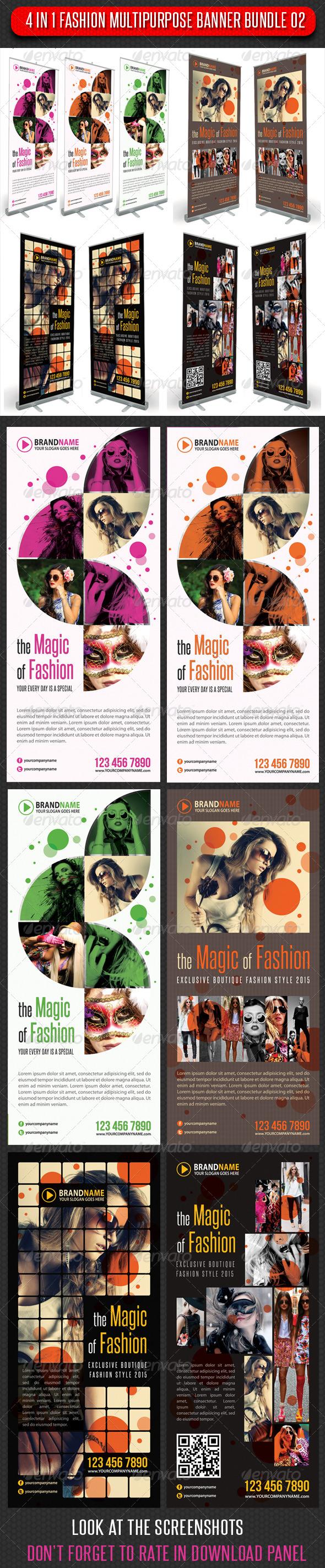 GraphicRiver 4 in 1 Fashion Multipurpose Banner Bundle 02 5956125
