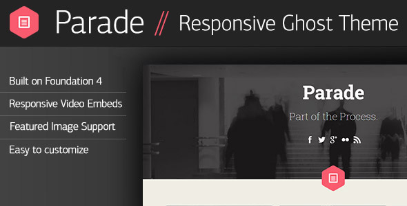 ThemeForest Parade Responsive Ghost Theme 5956127